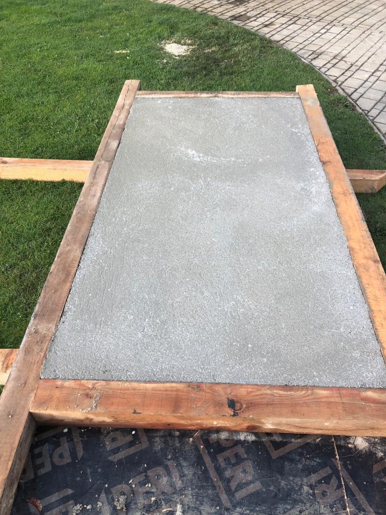 Outdoor-Küchen Bau beginnt